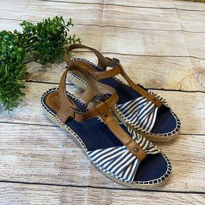 Nautical Striped Sandals